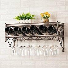 weingestell Wein Glashalter,Wein Glas Rack, Weinglas Hanger, Stemware Rack,Weinglas Rack Stemware Weinregale ( Farbe : Kupfer Farbe , größe : 33*62.5*25.5cm )