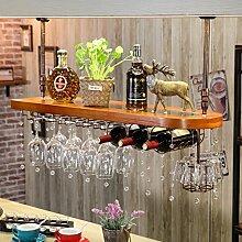 weingestell Wein Glashalter,Wein Glas Rack, Weinglas Hanger, Stemware Rack,Weinglas Rack Stemware Weinregale ( Farbe : Chestnut-brown , größe : 80*28cm )