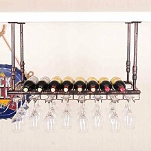weingestell Wein Glashalter,Wein Glas Rack, Weinglas Hanger, Stemware Rack,Weinglas Rack Stemware Weinregale ( Farbe : Bronze , größe : 120*35cm )