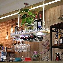weingestell Wein Glashalter,Wein Glas Rack, Weinglas Hanger, Stemware Rack,Weinglas Rack Stemware Weinregale ( Farbe : Weiß , größe : 100*28*12cm )