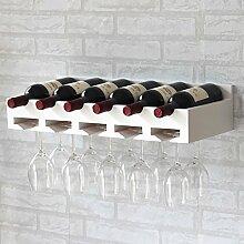 weingestell Wein Glashalter,Wein Glas Rack, Weinglas Hanger, Stemware Rack,Weinglas Rack Stemware Weinregale ( Farbe : Weiß , größe : 59*26.5cm )