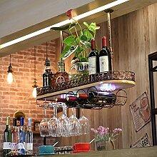 weingestell Wein Glashalter,Wein Glas Rack, Weinglas Hanger, Stemware Rack,Weinglas Rack Stemware Weinregale ( Farbe : Bronze colour , größe : 60*28*12cm )