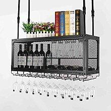 weingestell Weinglas-Gestell, Suspendierung kreatives Wein-Gestell, gedrehtes Eisen-Rotweinglas-Rahmen, Bar-Haushalts-Wein-Schalen-Halter Weinregale ( größe : 100*30cm )