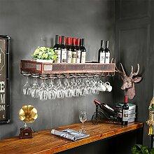 weingestell Weinglas-Gestell, Suspendierung kreatives Wein-Gestell, gedrehtes Eisen-Rotweinglas-Rahmen, Bar-Haushalts-Wein-Schalen-Halter Weinregale ( größe : 100*35*15cm )