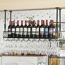 weingestell Weinglas-Gestell, Suspendierung kreatives Wein-Gestell, gedrehtes Eisen-Rotweinglas-Rahmen, Bar-Haushalts-Wein-Schalen-Halter Weinregale ( größe : 100*25cm )