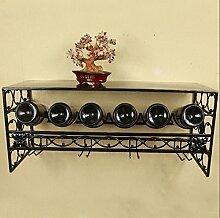 weingestell Weinglas-Gestell, Suspendierung kreatives Wein-Gestell, gedrehtes Eisen-Rotweinglas-Rahmen, Bar-Haushalts-Wein-Schalen-Halter Weinregale