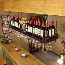 weingestell Weinglas-Gestell, Suspendierung kreatives Wein-Gestell, gedrehtes Eisen-Rotweinglas-Rahmen, Bar-Haushalts-Wein-Schalen-Halter Weinregale ( Farbe : Bronze , größe : 120*35cm )