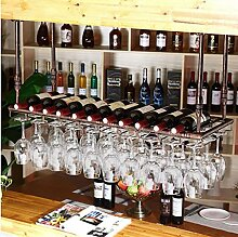weingestell Weinglas-Rack, Regal-Wein-Glas-Halter, Weinglas-Rack, Weinglas-Rack, Champagner-Glas-Rack, Glaswaren-Rack Weinregale ( Farbe : A , größe : L80*W35cm )