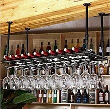 weingestell Weinglas-Rack, Regal-Wein-Glas-Halter, Weinglas-Rack, Weinglas-Rack, Champagner-Glas-Rack, Glaswaren-Rack Weinregale ( Farbe : B , größe : L100*W35cm )