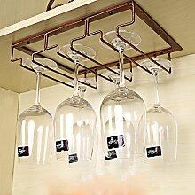 weingestell Weinregal kreatives Weinglas Rahmen Höhe Tasse Inhaber Eisen hängen Rotwein Glas Rack umgedreht Weinschrank Weinregal Weinregale ( größe : 30*22.5cm )