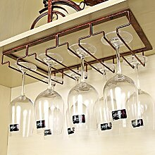 weingestell Weinregal kreatives Weinglas Rahmen Höhe Tasse Inhaber Eisen hängen Rotwein Glas Rack umgedreht Weinschrank Weinregal Weinregale ( Farbe : Messing )