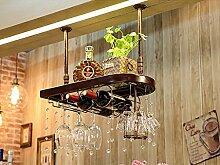 weingestell Weinregal Massivholz Weinregal hängen Rotwein Rack umgedreht Rotwein Glashalter Europäische Weinglas Halter hängen hohe Tasse Inhaber Weinregal Weinregale ( Farbe : B , größe : 80*28cm )