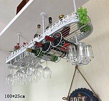 weingestell Weinregale Europäische Stil Bar Wein Tasse Inhaber Home Cup-Halter Wein Tasse Rack umgedreht Weinregal Dekoration Weinregal Suspension Weinregale ( Farbe : A , größe : 100*25cm )