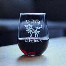 Weingläser ohne Stiel, Edderly Fabulous –