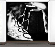 Weingläser Schwarz-Weiß-Tapete für Schlafzimmer