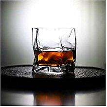 Weingläser Unregelmäßige Form Whisky Glas