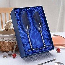 Weinglas 2Pc Hochzeit Gläser Personalisierte