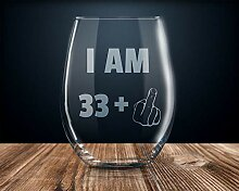 Weinglas 34. Geburtstag 34. Geburtstag Party
