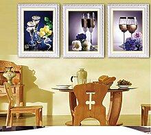 Weinglas 5d Diamant Malerei Restaurant Kreuzstich Bestickte Diamanten Voller Wohnzimmer Blume Dreifachlackierung Stitch Cross Stitch,C