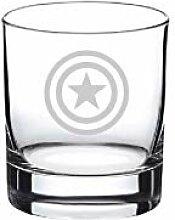 Weinglas Captain Whiskey ohne Stiel,