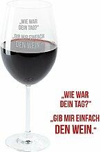 Weinglas – Dein Tag: graviertes Weinglas von