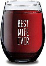 Weinglas für Damen, mit Stiel, personalisierbar,