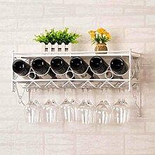 Weinglas-Gestell, Suspendierungs-kreatives Wein-Gestell, gedrehtes Eis-Rotweinglas-Rahmen, Wein-Ausstellungsstand, Stab-Haushalts-Wein-Schalen-Halter Weinregale ( Farbe : Weiß )