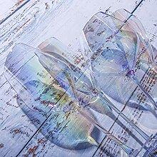 Weinglas Glas Weinglas Farbverlauf Sieben