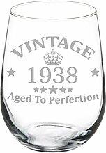 Weinglas Goblet 79. Geburtstag Vintage Aged To