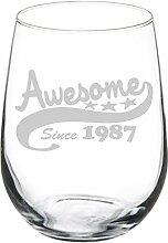 Weinglas Goblet Weingläser ohne Stiel Funny 30.