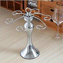 Weinglas-Halter Edelstahl Glas-Trockengestell small waist silver cup holder