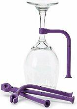 weinglas halterung Einstellen Silikon Weinglas Geschirrspüler Becherhalter Safer Stemware Stabilizer, 4ST