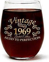 Weinglas im Vintage-Stil, mit Geschenkbox, 444 ml,