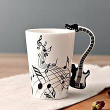 Weinglas Kaffeetasse Bechernote Mug With Guitar