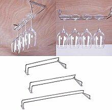 Weinglas KleiderbÜGel Halter Glas Stemware Rack , Sektglas Cup Regal Lagerung Mit Schrauben, L-55CM