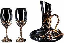 Weinglas - Kristall Wein Geschenk Box Becher
