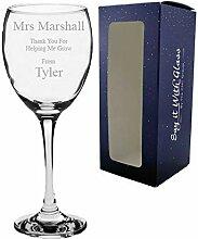 Weinglas mit personalisierter Gravur - Dankeschön