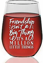"""Weinglas ohne Stiel, Gravur """"Best Friends"""","""