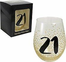 Weinglas ohne Stiel, in Geschenkbox,
