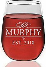 Weinglas, personalisierbar, ohne Stiel, mit Gravur