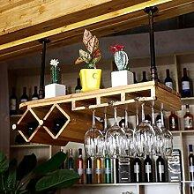Weinglas-Rack, Regal-Wein-Glas-Halter, Weinglas-Rack, Weinglas-Rack, Champagner-Glas-Rack, Glaswaren-Rack Weinregale ( Farbe : 1* , größe : L80*W28cm )