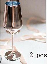 Weinglas Roségold Rotweinglas Cyrstal Becher Saft
