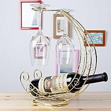 Weinglas Weinflaschenhalter weinglashalter halter Weinflaschenhalter wine glass holder Gold Drah