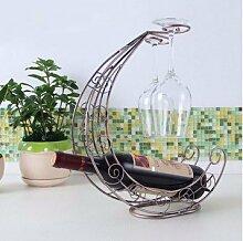 Weinglas Weinflaschenhalter weinglashalter halter Weinflaschenhalter wine glass holder Silber Gitter