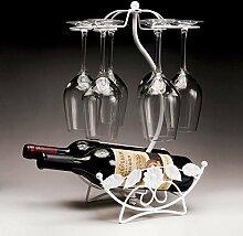 Weinglas Weinflaschenhalter weinglashalter halter Weinflaschenhalter wine glass holder Silber Vines