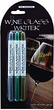 Weinglas Writer Stifte Metallische Farben Marker–Lot de 3Marker, Gläser aus Glas  