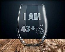 Weinglas zum 44. Geburtstag 44. Geburtstag Party