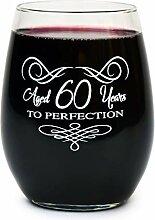 Weinglas zum 50. Geburtstag ohne Stiel, für Damen