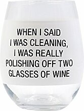 Weinglas zum Polieren