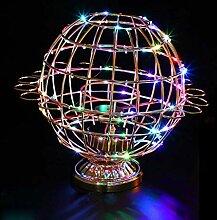 Weinglashalter, LED drehbarer Globus